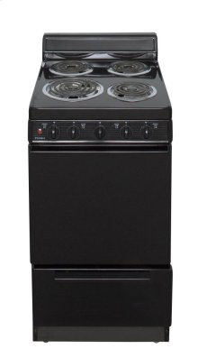 20 in. Freestanding Electric Range in Black