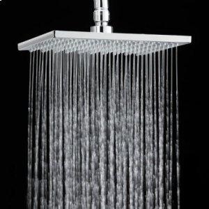 8 Inch Square Rain Showerhead - Polished Chrome