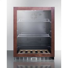 Built-in Undercounter Beverage Refrigerator With Glass Door With Panel-ready Frame, Digital Controls, and Black Cabinet