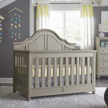 Oyster Grey Nantucket 4 in 1 Convertible Crib