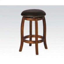 Vintage Oak Bar Stool W/swivel