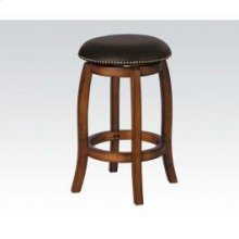 Vintage Oak Bar Stool W/swivel