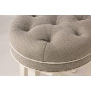 Sophia Backless Vanity Stool - Linen Gray Product Image