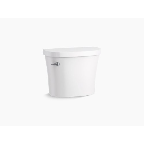 White 1.28 Gpf Toilet Tank With Class Five Flushing Technology and Left-hand Trip Lever