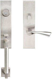 """NY Handleset Tubular Breeze Entry 2-3/8"""" 32D LH"""