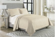 3pc King Bed Throw Set Pearl