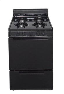 24 in. Freestanding Gas Range in Black