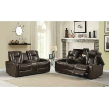 Delangelo Brown Power Motion Two-piece Living Room Set