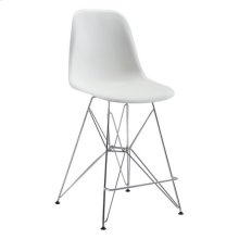 Zip Counter Chair White