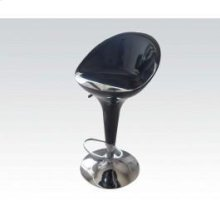 Bk/chrome Swivel Adj. Stool @n