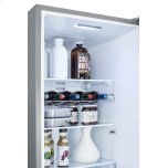 Summit Counter Depth Energy Star Certified Bottom Freezer Refrigerator, With Frost-free Operation, Digital Controls, Platinum Cabinet, and Stainless Steel Look Doors; Replaces Ffbf191ss