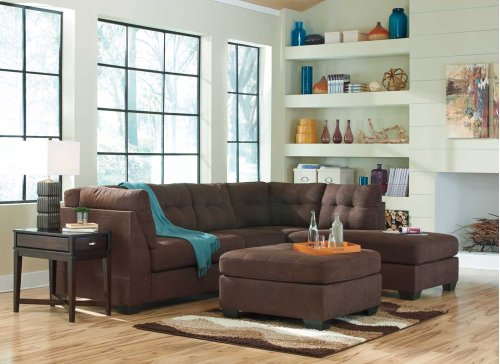 Maier LF Sectional Sofa w/RAF Chaise - Walnut Collection