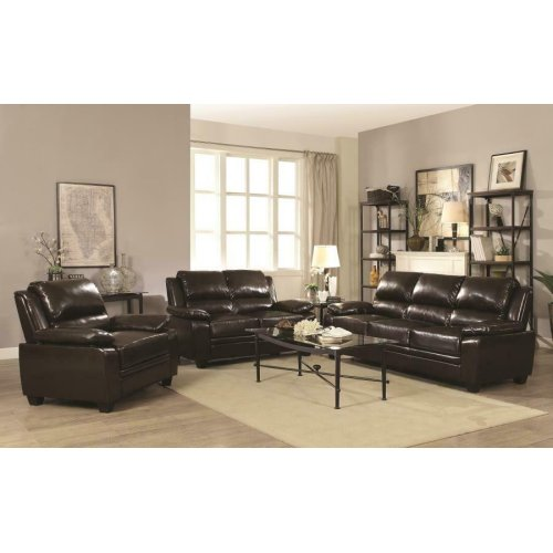 Gryffin Brown Motion Three-piece Living Room Set