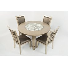 Casa Bella Round Dining Table- Vintage Silver
