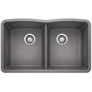 Blanco Diamond Equal Double Bowl - Metallic Gray