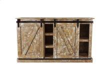 Barn Door Old White Plasma TV Stand