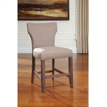 "Glosco 24"" Upholstered Bar Stool, Brown"