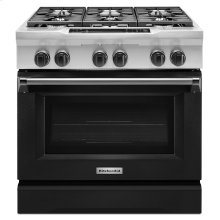 36'' 6-Burner Dual Fuel Freestanding Range, Commercial-Style Imperial Black