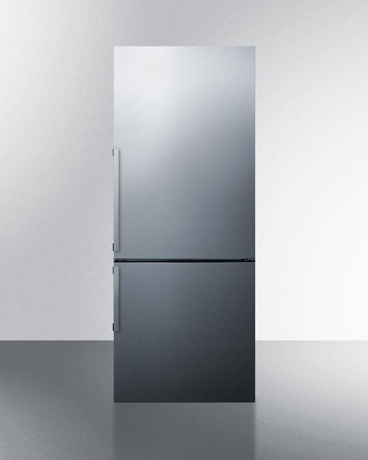 """Summit28"""" Wide Bottom Freezer Refrigerator"""