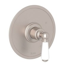Satin Nickel Perrin & Rowe Edwardian Pressure Balance Trim Without Diverter with Metal Lever