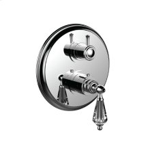 "7098yc-tm - 1/2"" Thermostatic Trim With 3-way Diverter Trim (shared Function) in Bright Pewter"