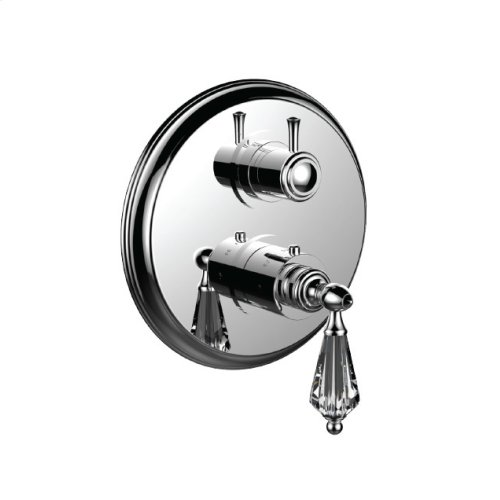 """7098yc-tm - 1/2"""" Thermostatic Trim With 3-way Diverter Trim (shared Function) in Antique Bronze"""
