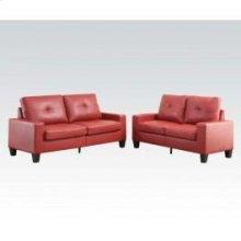 Platinum II Red Sofa/loveseat