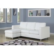 WHITE PU REV. CHAISE SECTIONAL Product Image