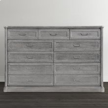 French Grey Martinique 11 Drawer Dresser