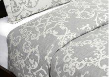 Lido Jacquard Charcoal King Duvet 108x94