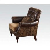 Bonded Leather/chenille Chair