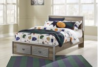 McKeeth - Gray 4 Piece Bed Set (Full) Product Image