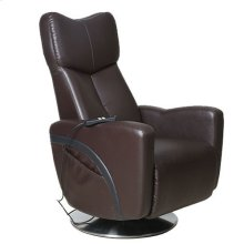Venice Recliner in Black Pepper Breathable Air Leather