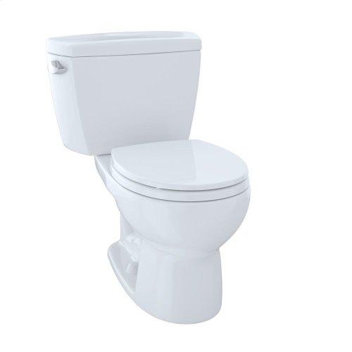Eco Drake® Two-Piece Toilet, 1.28 GPF, Round Bowl - Cotton