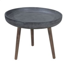 Brother Side Table Cement & Natural