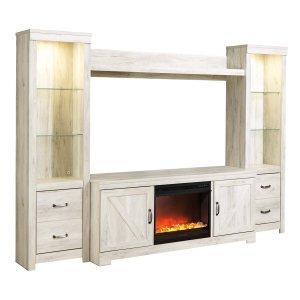Ashley Furniture Bellaby - Whitewash 5 Piece Entertainment Set