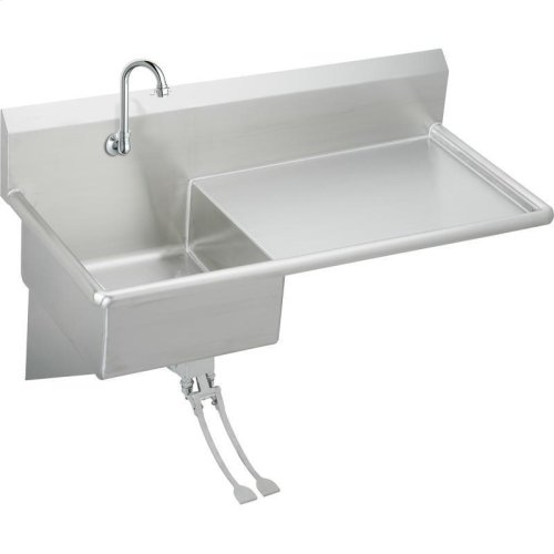 "Elkay Stainless Steel 49-1/2"" x 24"" x 10, Wall Hung Service Sink Kit"