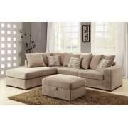 Olson Taupe Storage Ottoman Product Image