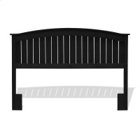 Finley Wooden Headboard Panel with Curved Top Rail Design, Black Finish, Full / Queen Product Image