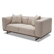 Tempo Loveseat With Wood Base