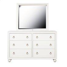 Framed Dresser Mirror with LED Lighting