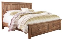 Blaneville - Brown 4 Piece Bed Set (King)