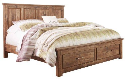 Blaneville - Brown 4 Piece Bed Set (King)