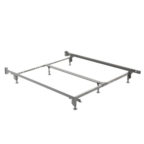Uni-Matic 83456G Universal Bed Frame with Fixed Headboard Brackets and (6) Leg Glides, Twin / King