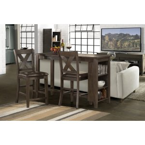 Hillsdale FurnitureSpencer 3-piece Counter Height Dining With X-back Non-swivel Stools - Dark Espresso (wirebrush)