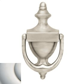 Polished Nickel with Lifetime Finish Colonial Knocker