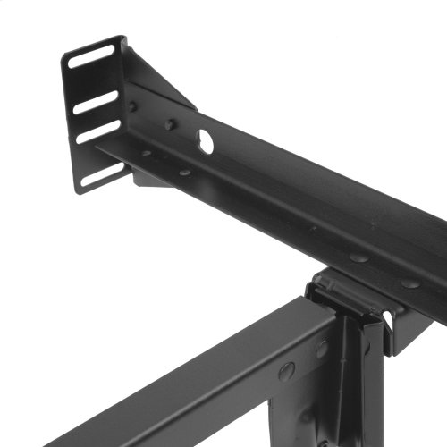 Inst-A-Matic Premium 753R Bed Frame with Headboard Brackets and (4) 2-Inch Locking Rug Roller Legs, Black Finish, Full