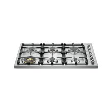 36 Drop-in Cooktop 6-burner Stainless Steel