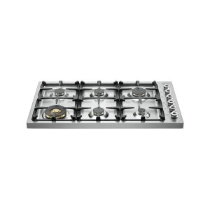 Bertazzoni36 Drop-in Cooktop 6-burner Stainless Steel