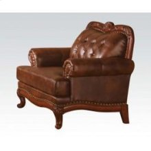 Dark Brown Leather Chair